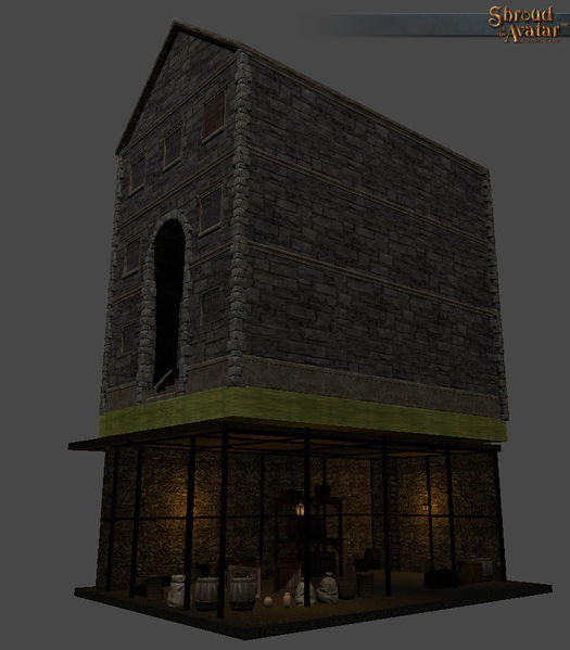 Row Stone & Timber 1-Story Basement - Shroud of the Avatar