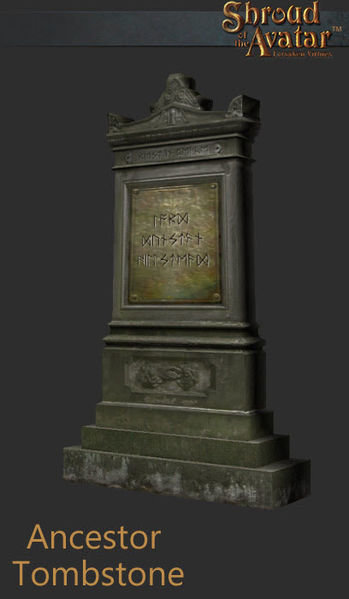 Ancestor Tombstone - Shroud of the Avatar