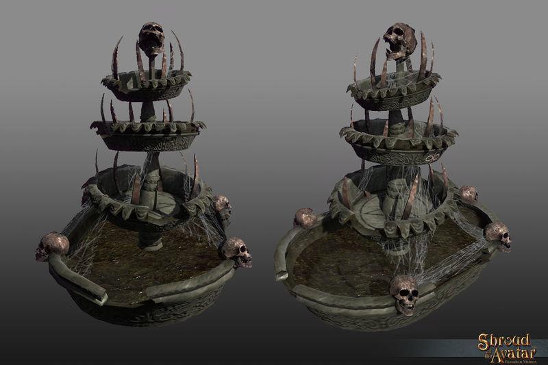 Large Spooky Fountain - Shroud of the Avatar