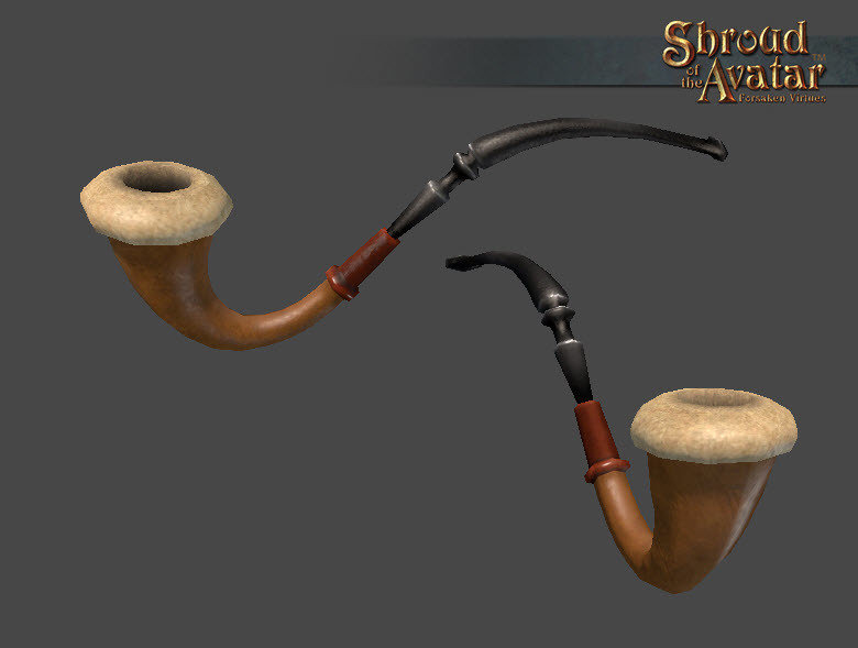 Ornate Wooden Pipe - Shroud of the Avatar
