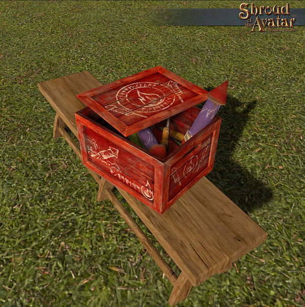 Replenishing Red Rocket Fireworks Box - Shroud of the Avatar