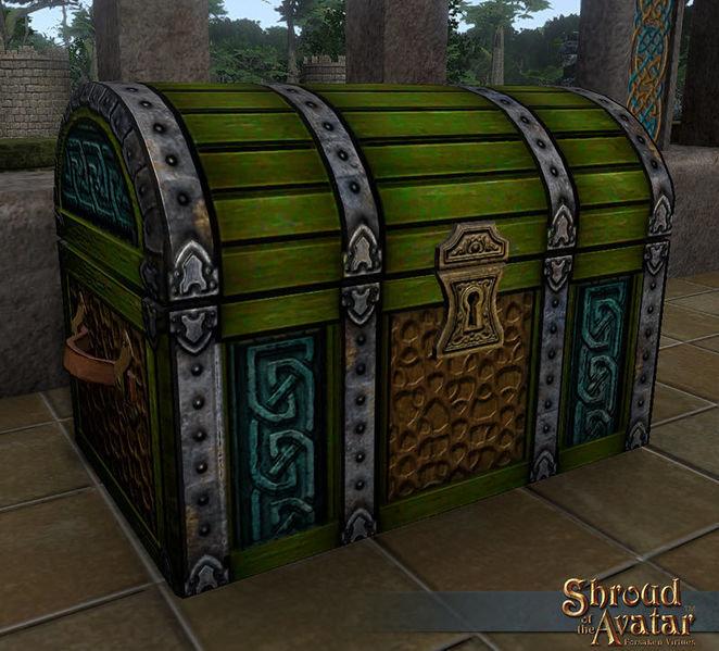 Ornate Viking Storage Chest - Shroud of the Avatar