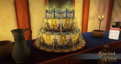 Replenishing Lord British Birthday Cake 2017 - Shroud of the Avatar