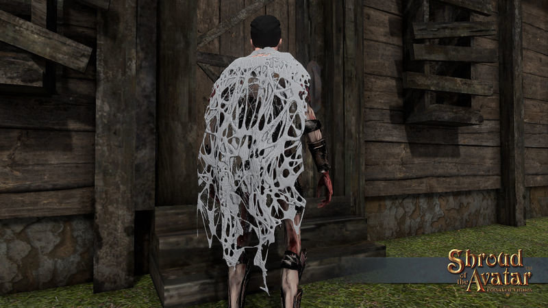 Woven Spider web Cloak - Shroud of the Avatar