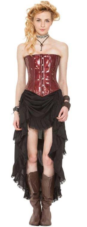 Steampunk Skirt with Shredded Raw Edges
