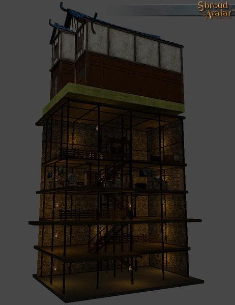 Row Stone & Timber 5-Story Basement - Shroud of the Avatar