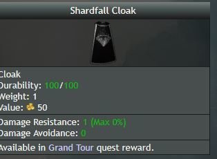 Shardfall Cloak - Shroud of the Avatar