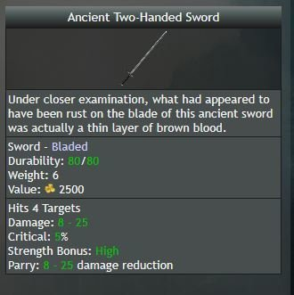 Ancient Two-Handed Sword, Uncommon - Shroud of the Avatar