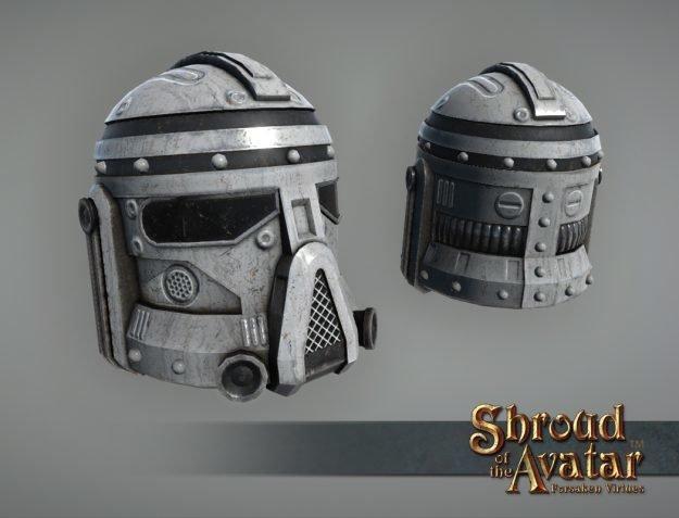 White Sky Navy Helmet - Shroud of the Avatar