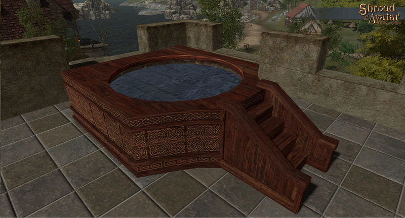 Ornate Wooden Hot Tub - Shroud of the Avatar