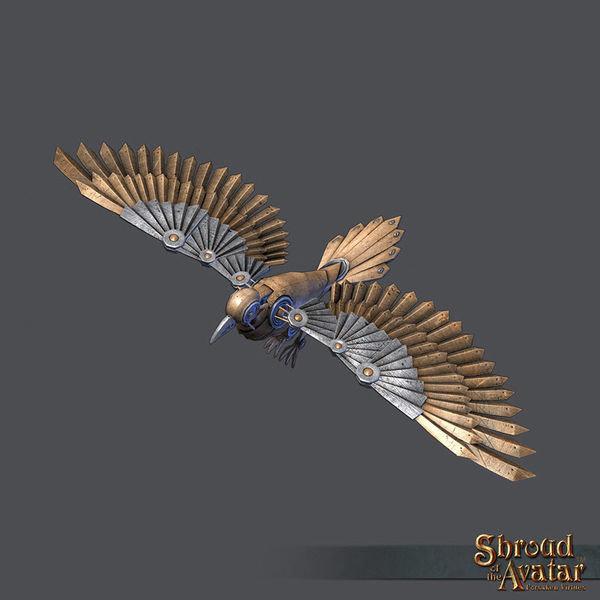 Brass Clockwork Raven - Shroud of the Avatar