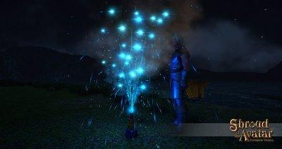 Replenishing Blue Fountain Fireworks Box - Shroud of the Avatar