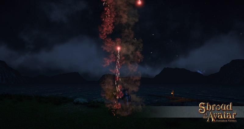 Replenishing Red Elysium Candle Fireworks Box - Shroud of the Avatar