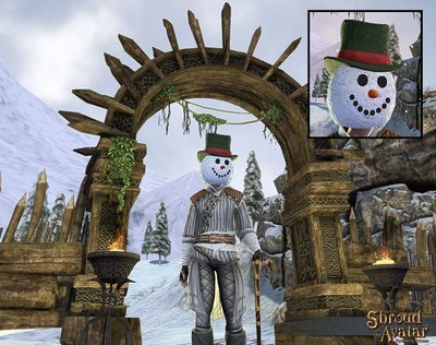 2016 Snowman with Stovepipe Hat Mask - Shroud of the Avatar