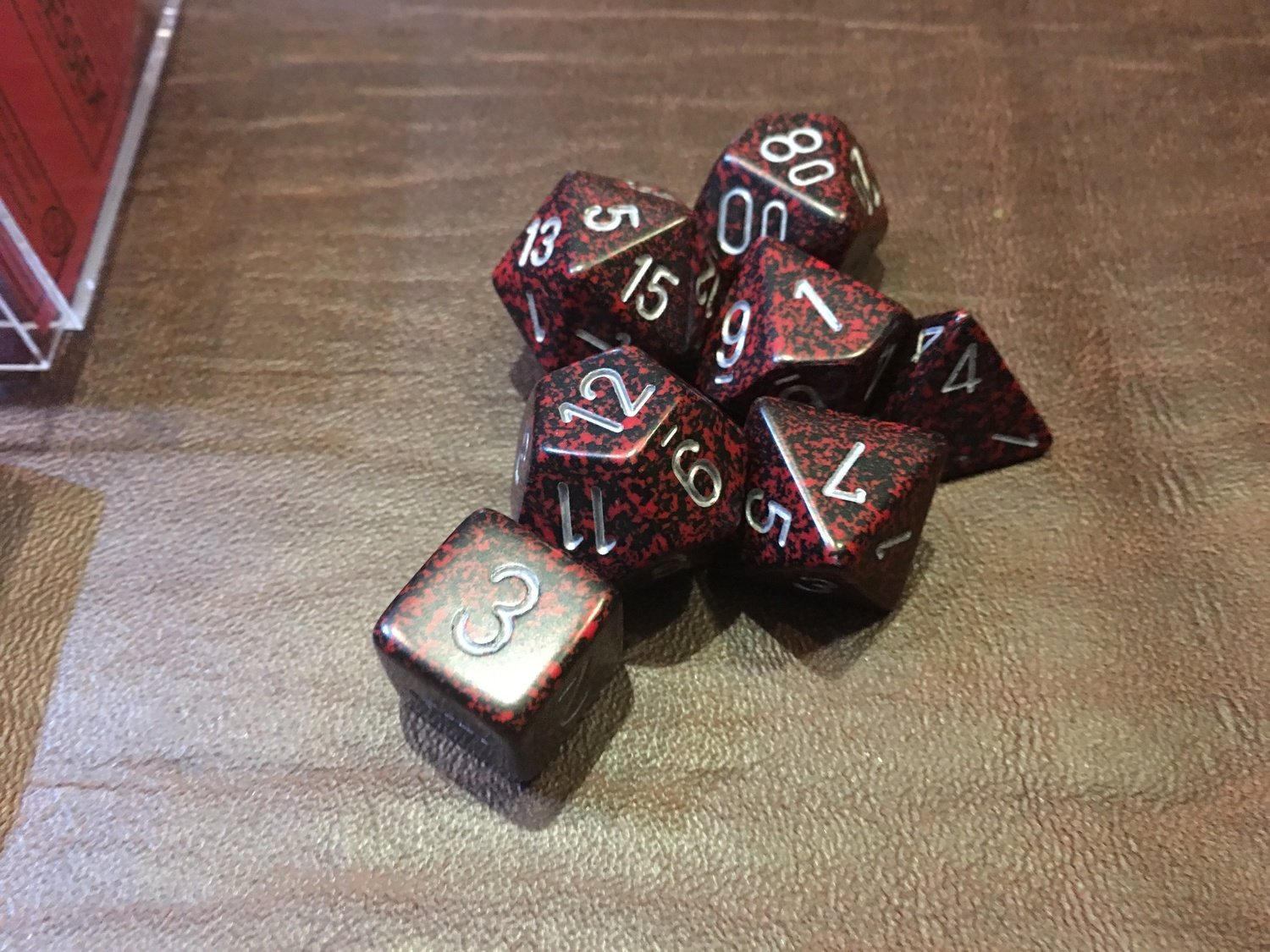 7 Die Dice Polyhedral Set - Speckled Silver Volcano