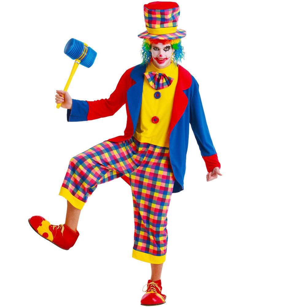 Creepy Clown Adult Costume, L