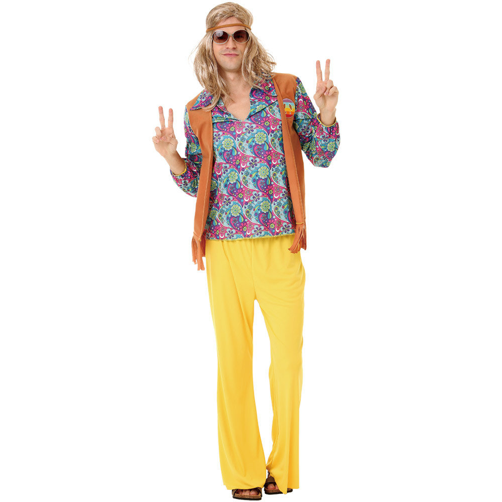 Groovy Hippie Adult Costume, L