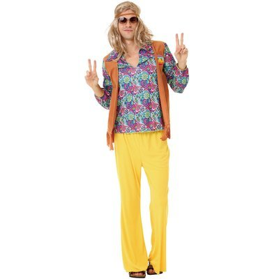 Groovy Hippie Adult Costume, L