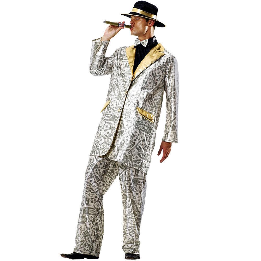 Men's Money Suit Halloween Costume, X-Large
