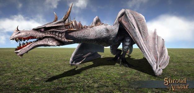 Mounted White Dragon - Shroud of the Avatar