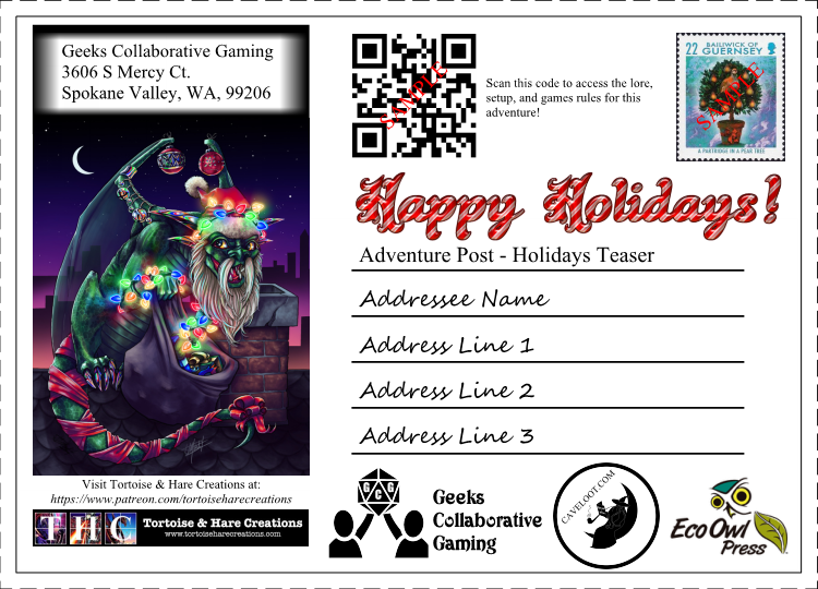 Adventure Post - 2018 Holiday Teaser - FREE PRINT AND PLAY