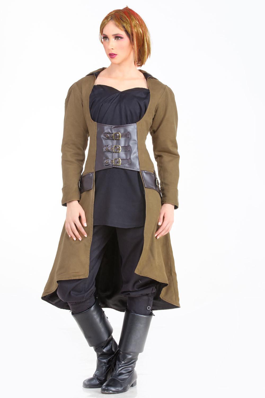 Underbust Vampire Trench Coat