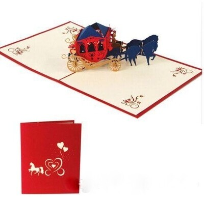 Pop Up Horse & Carriage Card
