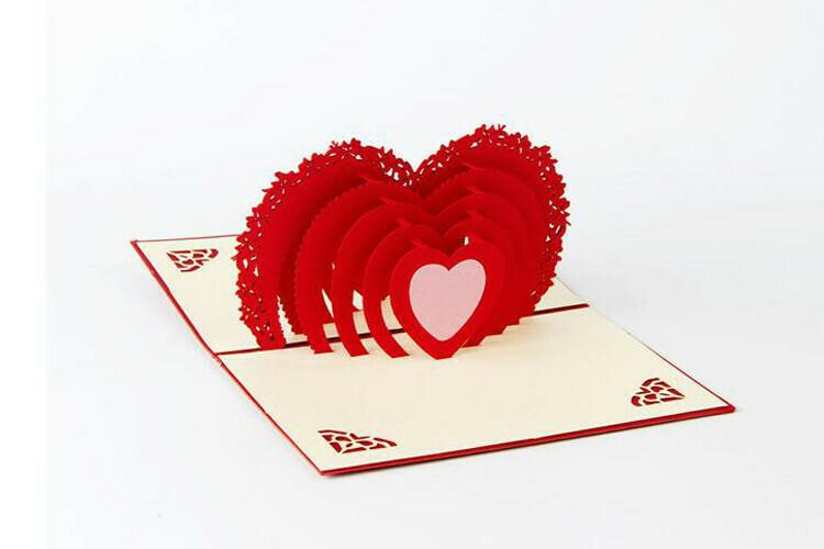 Pop Up Hearts Card