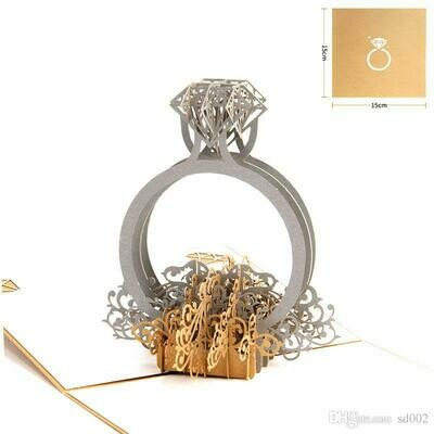 Pop Up Engagement / Wedding Ring Card