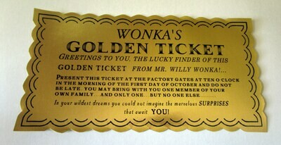 Classic Golden Ticket