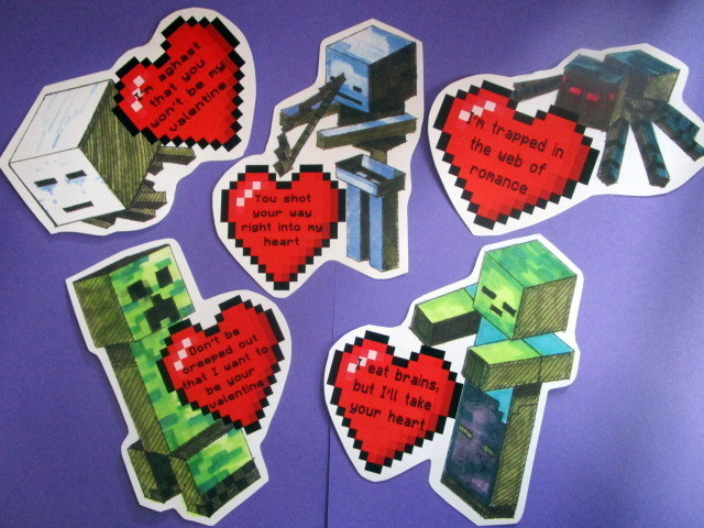 Building Block Video Game Valentines digital files (6)