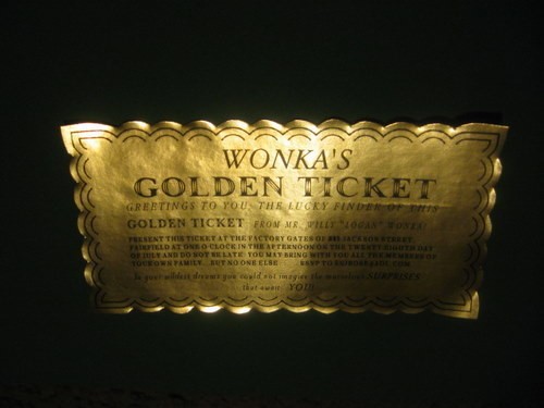 Classic Golden Ticket Customized