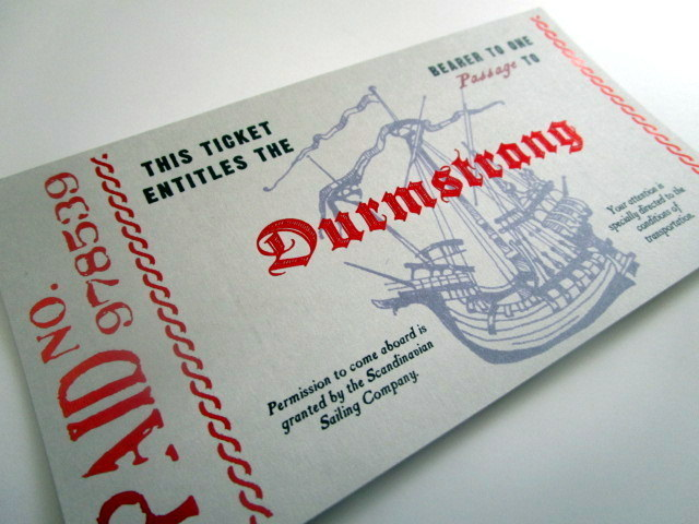 Harry Potter Durmstrang School Boat Ticket Harfang munter established durmstrang's reputation for duelling and all forms of martial magic, which remain an impressive part of its curriculum today. legendary letters