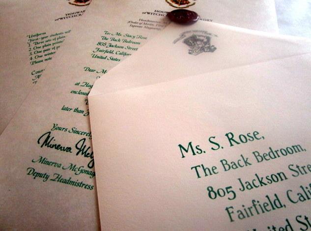 Harry Potter Hogwarts Acceptance Letter Personalized
