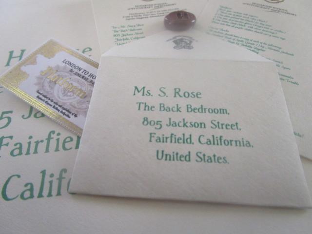 "Mini Wizarding Acceptance Letter & Ticket for 18""  Dolls (British School)"
