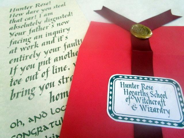 """Screaming"" Wizarding Letter in Red Envelope"