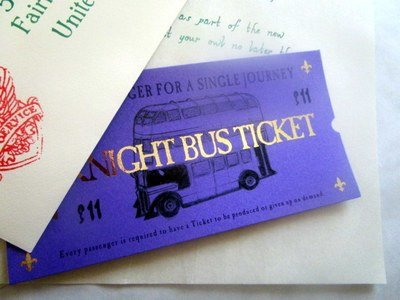 *Purple Wizarding Bus Ticket