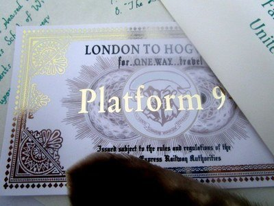 *Wizarding School Express Train Ticket
