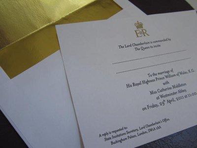Royal Wedding Invitation Souvenir Reproduction
