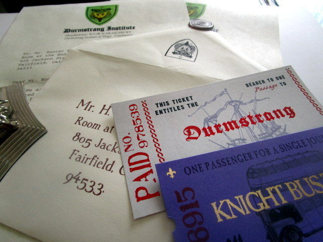 Harry Potter Durmstrang Acceptance Letter Personalized en the durmstrang institute is a wizarding school. harry potter durmstrang acceptance