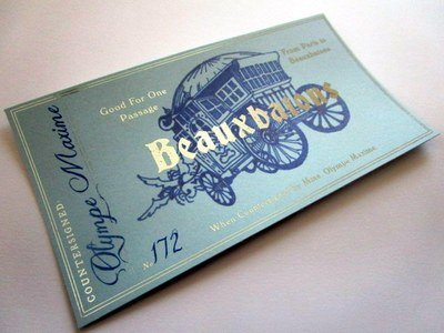 French Wizarding School Stagecoach Ticket
