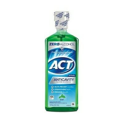 Act Mint Fluoride Rinse mouthwash- 18 fl oz