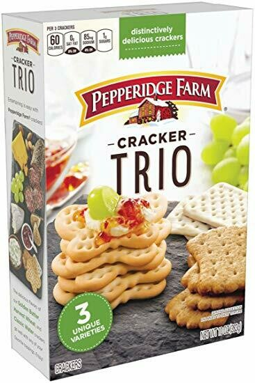 Pepperidge Farm Trio Variety Crackers, 10 oz. Box - Butterfly crackers