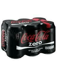 Coke Zero 300ml Cans 6 Pack