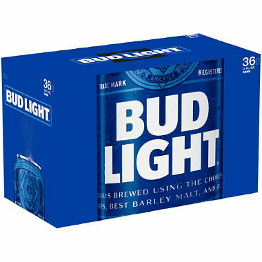Bud light cans - case