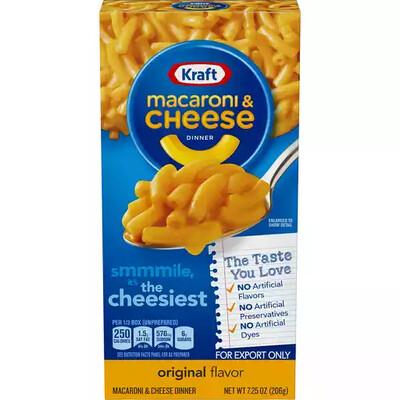 Kraft Original Flavor Macaroni & Cheese Dinner 7.25 oz. Box