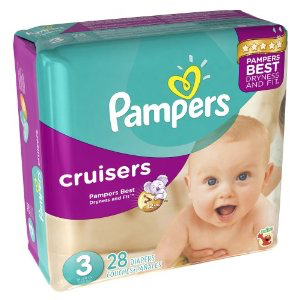 Pampers Cruisers, baby diapers 28ct (click image for size options)