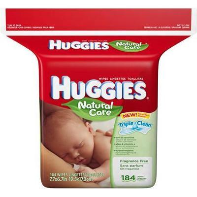 HUGGIES - Natural Care Fragrance-Free Wipes, 184ct