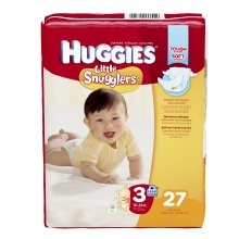 Huggies Little Snugglers Diapers, Size 3