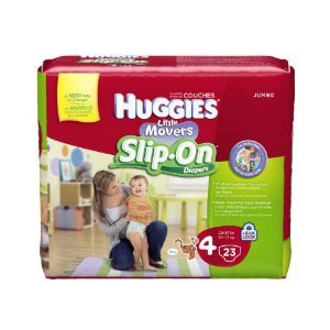 Huggies Little Movers Slip-On Diaper Pants, Size 4